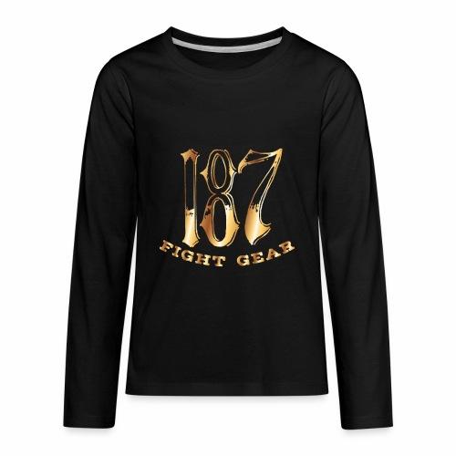 187 Fight Gear Gold Logo Sports Gear - Kids' Premium Long Sleeve T-Shirt