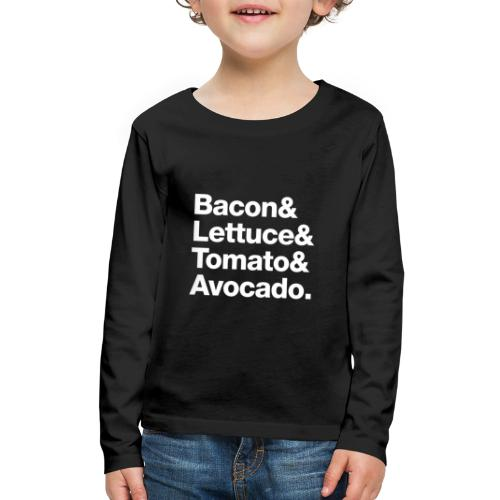BLTA (white text) - Kids' Premium Long Sleeve T-Shirt