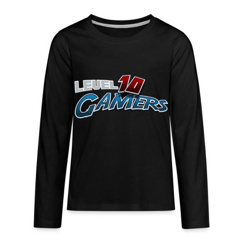 Level10Gamers Logo - Kids' Premium Long Sleeve T-Shirt