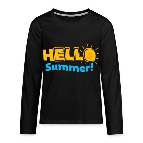 Kreative In Kinder Hello Summer! - Kids' Premium Long Sleeve T-Shirt