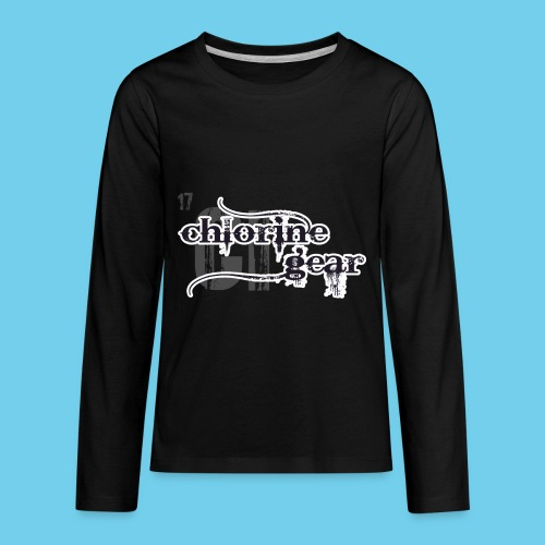Chlorine Gear Textual B W - Kids' Premium Long Sleeve T-Shirt