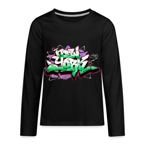 RANGE - Design for New York Graffiti Color Logo - Kids' Premium Long Sleeve T-Shirt