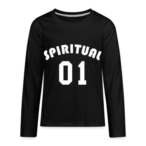 Spiritual 01 - Team Design (White Letters) - Kids' Premium Long Sleeve T-Shirt