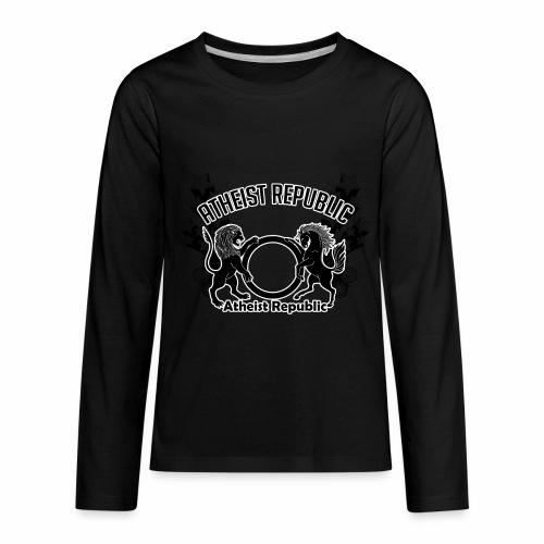 Atheist Republic Logo - Shooting Stars - Kids' Premium Long Sleeve T-Shirt