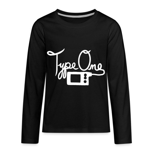Type One - Insulin Pump 2- White - Kids' Premium Long Sleeve T-Shirt