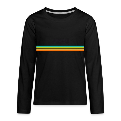 striped mug black logo png - Kids' Premium Long Sleeve T-Shirt