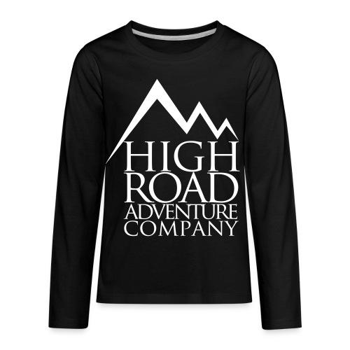 High Road Adventure Company Logo - Kids' Premium Long Sleeve T-Shirt