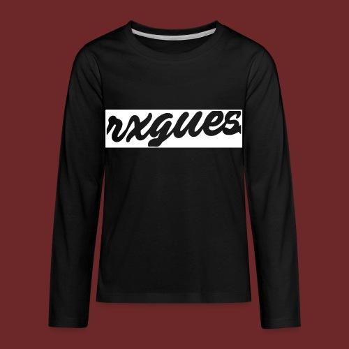 NEGATIVE SPACE KIDS HOODIE - Kids' Premium Long Sleeve T-Shirt