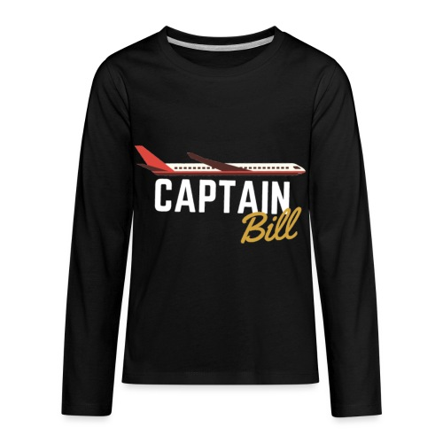 Captain Bill Avaition products - Kids' Premium Long Sleeve T-Shirt