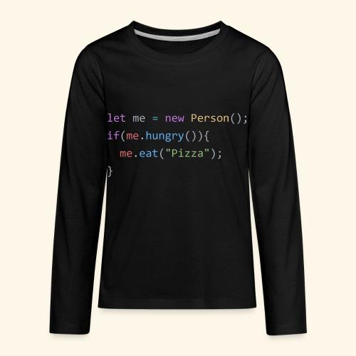 Pizza Code - Colored Version - Kids' Premium Long Sleeve T-Shirt