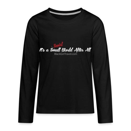 Plain Small World png - Kids' Premium Long Sleeve T-Shirt