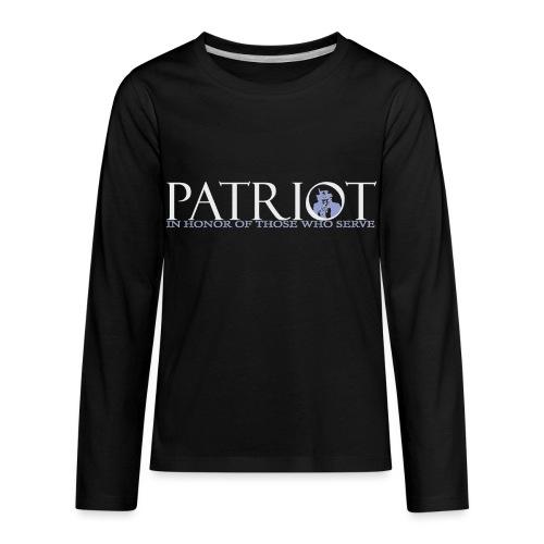 PATRIOT-SAM-USA-LOGO-REVERSE - Kids' Premium Long Sleeve T-Shirt