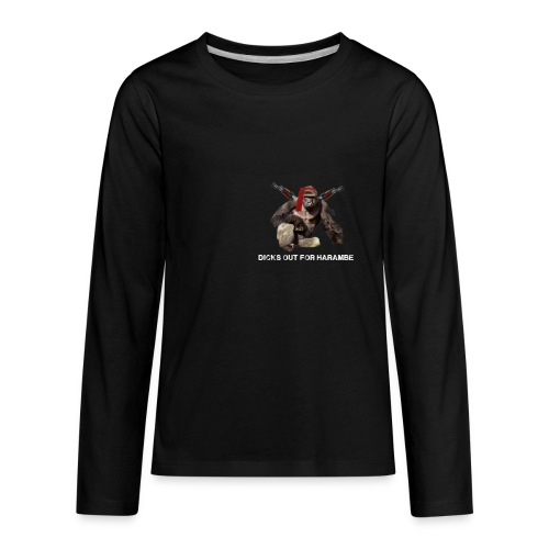 dicks out for harambe - Kids' Premium Long Sleeve T-Shirt