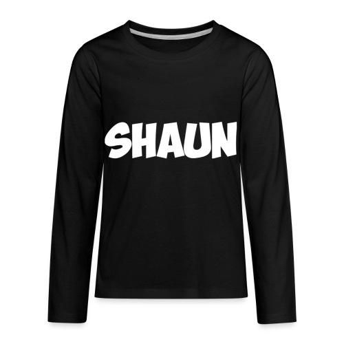 Shaun Logo Shirt - Kids' Premium Long Sleeve T-Shirt