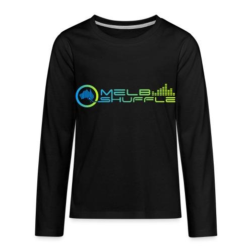Melbshuffle Gradient Logo - Kids' Premium Long Sleeve T-Shirt
