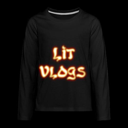 Lit Vlogs Glowing - Kids' Premium Long Sleeve T-Shirt