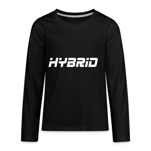 Hybrid Black Hoodie - Kids' Premium Long Sleeve T-Shirt