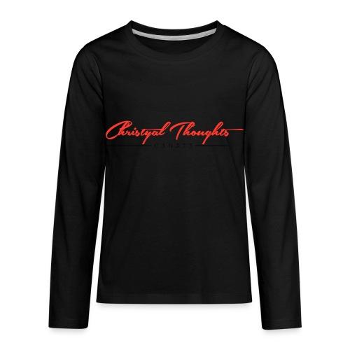 Christyal Thoughts C3N3T31 RB - Kids' Premium Long Sleeve T-Shirt