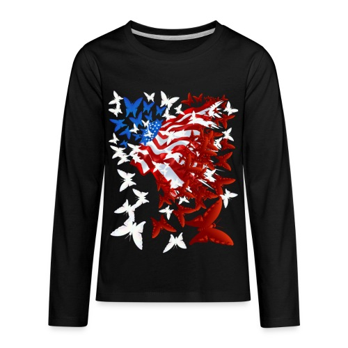The Butterfly Flag - Kids' Premium Long Sleeve T-Shirt