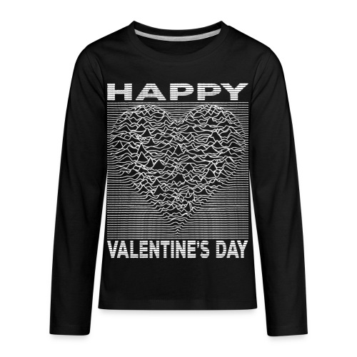 Love Lines Happy Valentines Day Heart - Kids' Premium Long Sleeve T-Shirt