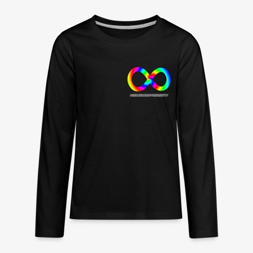 Neurodiversity with Rainbow swirl - Kids' Premium Long Sleeve T-Shirt