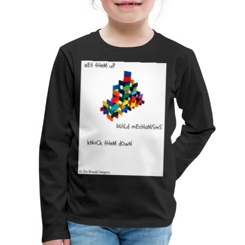 Hi I'm Ronald Seegers Collection-dominoes - Kids' Premium Long Sleeve T-Shirt