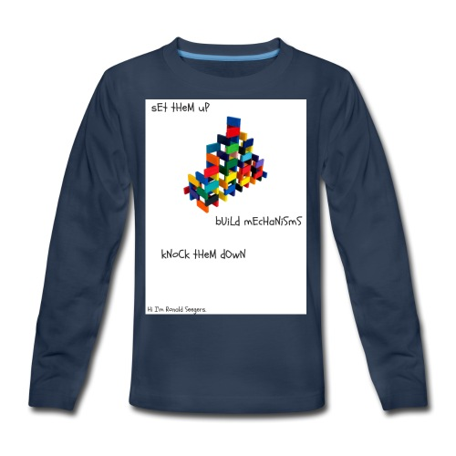Hi I'm Ronald Seegers Collection-dominoes - Kids' Premium Long Sleeve T-Shirt