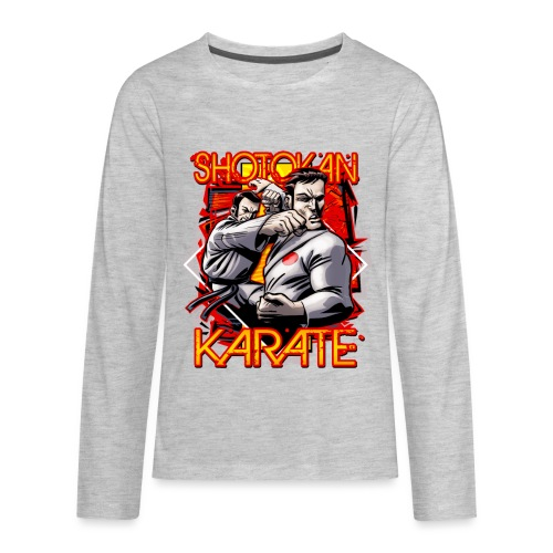 Shotokan Karate - Kids' Premium Long Sleeve T-Shirt