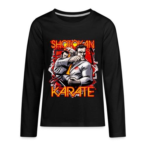 Shotokan Karate - Kids' Premium Long Sleeve T-Shirt