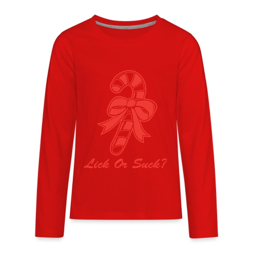Lick Or Suck Candy Cane - Kids' Premium Long Sleeve T-Shirt