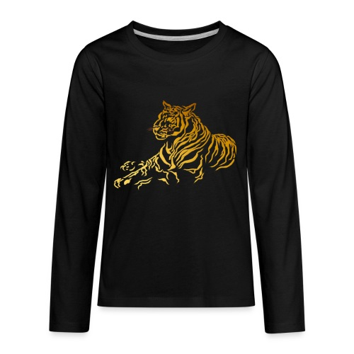 Gold Tiger - Kids' Premium Long Sleeve T-Shirt