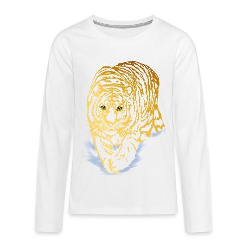 Golden Snow Tiger - Kids' Premium Long Sleeve T-Shirt