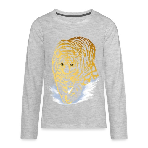 Golden Snow Tiger - Kids' Premium Long Sleeve T-Shirt