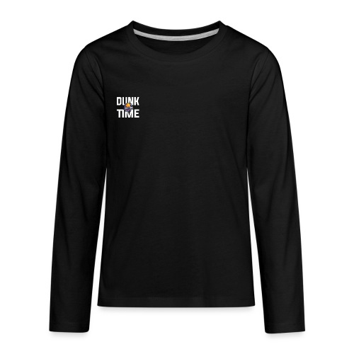 DUNKTIME Simple Logo - Kids' Premium Long Sleeve T-Shirt