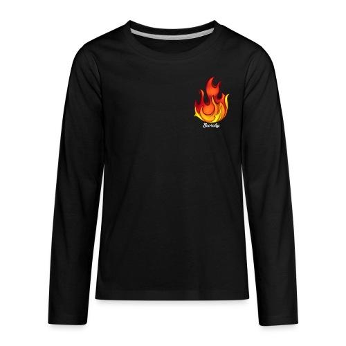 Scorchy White Logo - Kids' Premium Long Sleeve T-Shirt