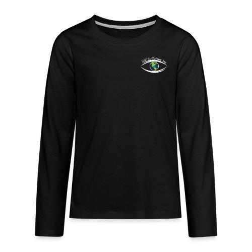Self Sufficient Me Logo white small coy design - Kids' Premium Long Sleeve T-Shirt