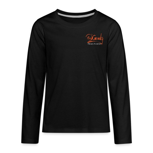 Helen O'Grady Orange Logo on Black - Kids' Premium Long Sleeve T-Shirt