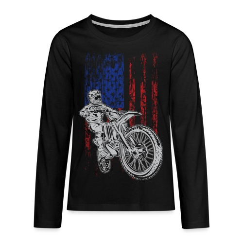 Motocross USA Race Rider - Kids' Premium Long Sleeve T-Shirt