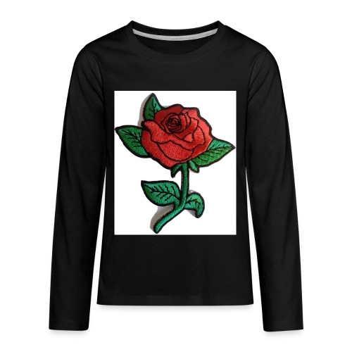 t-shirt roses clothing🌷 - Kids' Premium Long Sleeve T-Shirt