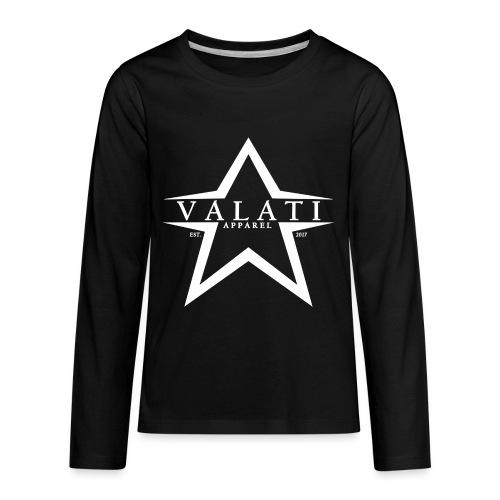V-Star White - Kids' Premium Long Sleeve T-Shirt