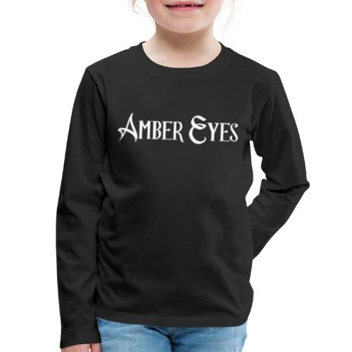 AMBER EYES LOGO IN WHITE - Kids' Premium Long Sleeve T-Shirt