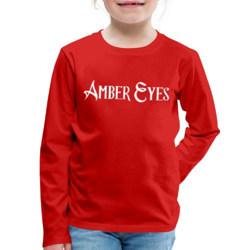 AMBER EYES LOGO IN WHITE - Kids' Premium Long Sleeve T-Shirt