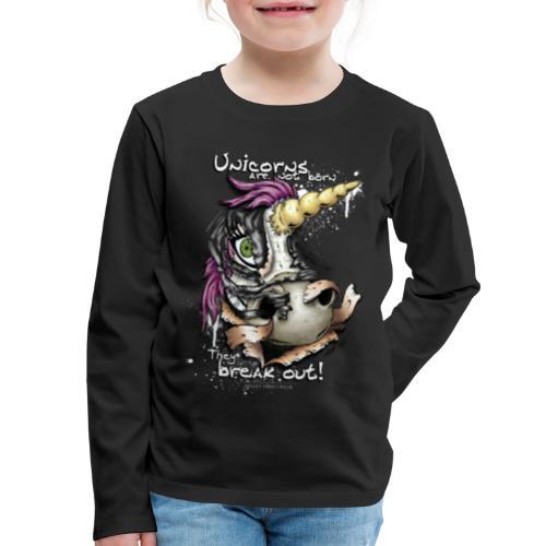 unicorn breakout - Kids' Premium Long Sleeve T-Shirt