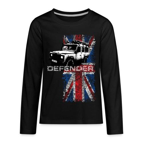 Land Rover Defender - AUTONAUT.com - Kids' Premium Long Sleeve T-Shirt