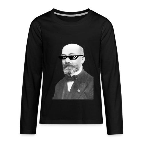 Zamenhof Shades (BW) - Kids' Premium Long Sleeve T-Shirt
