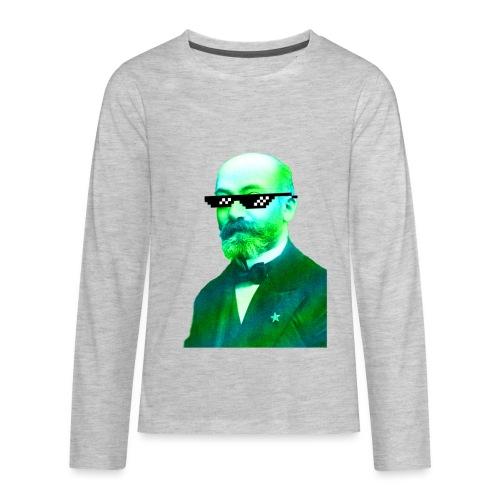 Green and Blue Zamenhof - Kids' Premium Long Sleeve T-Shirt