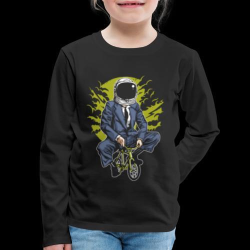 Bike to Work Space - Kids' Premium Long Sleeve T-Shirt
