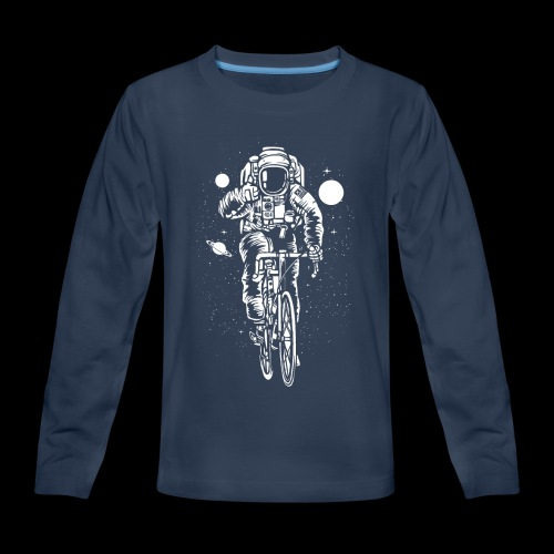 Space Cyclist - Kids' Premium Long Sleeve T-Shirt