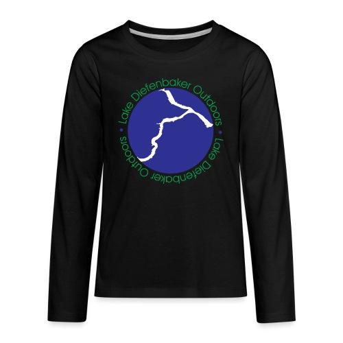 LAKE DIEFENBAKER OUTDOORS - Kids' Premium Long Sleeve T-Shirt