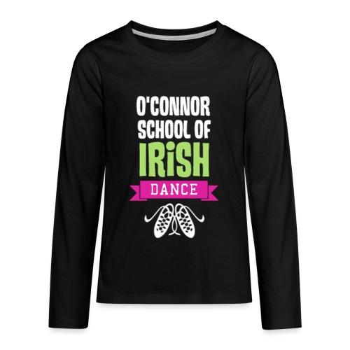 OSID Pink & Green Logo - Kids' Premium Long Sleeve T-Shirt